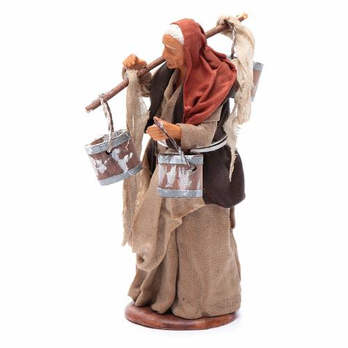 Milk seller with wooden buckets for Neapolitan Nativity, 14cm s2