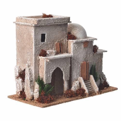 Minaret double décor crèche 13x20x10 cm s2