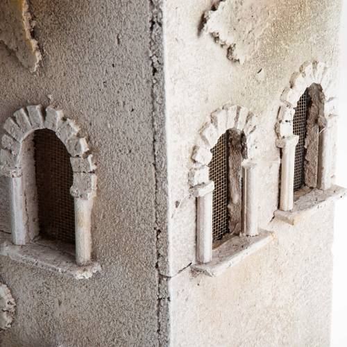 Minarete con cimborrio y arcos belén s3