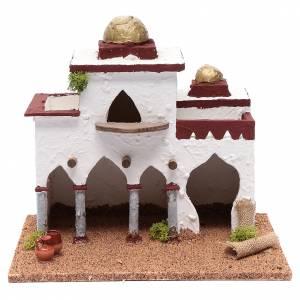 Casas, ambientaciones y tiendas: Minarete de madera estuco para belén 30x30x20 cm