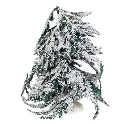 Mini arbre avec neige 15 cm s1