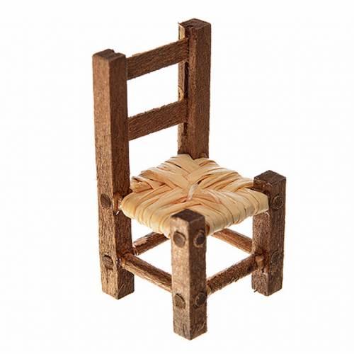 Mini chaise paillée 3,2x1,5x1,5 cm s1