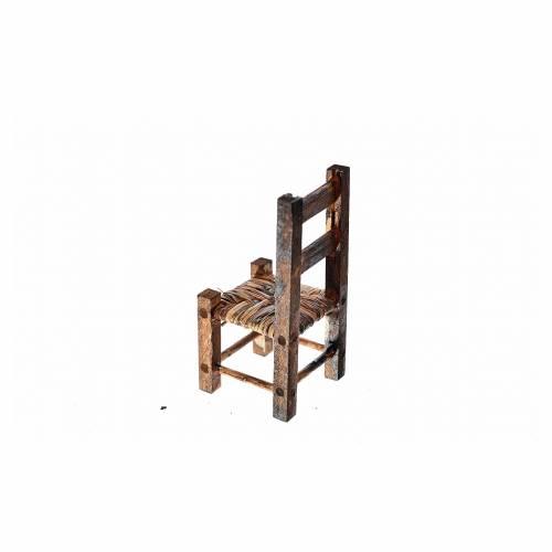 Mini chaise paillée pour crèche, 5,5x2,5x2,5cm s2