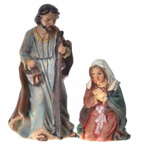 Resin and Fabric nativity scene sets: Mini crib resin