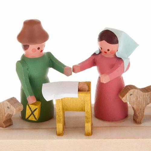 Mini presepe legno fatto a mano archetto 3