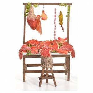 Comida en miniatura: Mostrador carnicería de cera 20x27x44 cm.