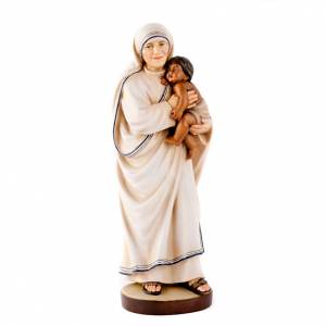 Hand painted wooden statues: Mother Therese of Calcutta statue