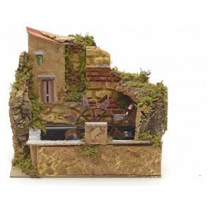 Moulins en miniature: Moulin à eau de crèche avec pompe cm 25x14
