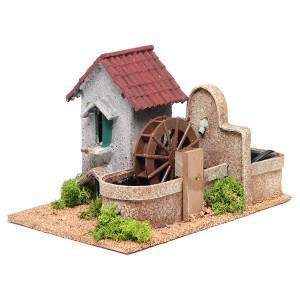 Moulin eau crèche 16x25x17 cm s2