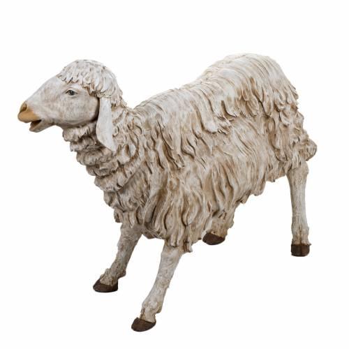 Mouton debout crèche 180 cm résine Fontanini s3