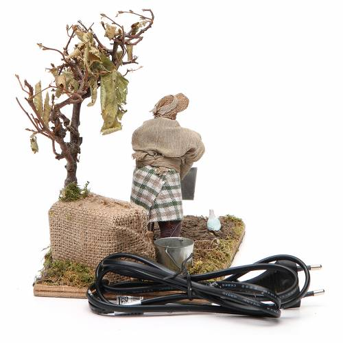 Movimento agricoltore con albero 12 cm presepe Napoli s4