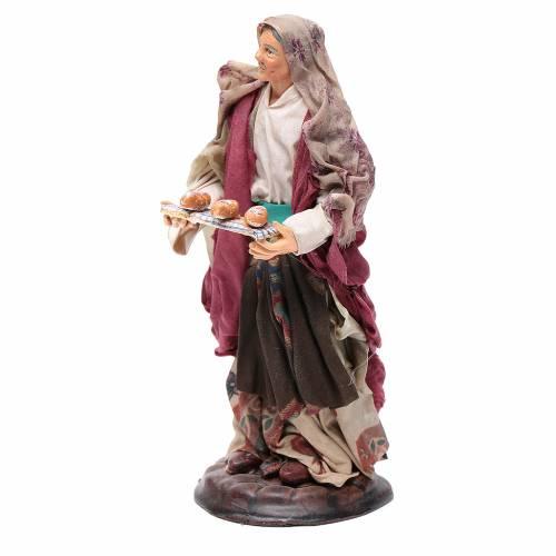 Mujer con cesta de pan 18 cm. belén napolitano s2