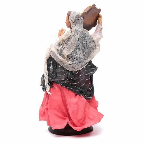 Mujer con pandereta 18 cm. belén napolitano s4