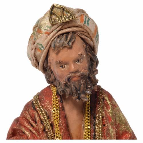 Mulatto Wise Man in terracotta, 13cm by Angela Tripi s5