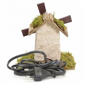 Mulini per Presepi: Mulino a vento elettrico per presepio 12x13x9 cm