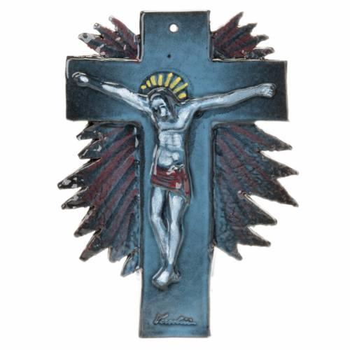 Mural ceramic crucifix (23 cm) s4
