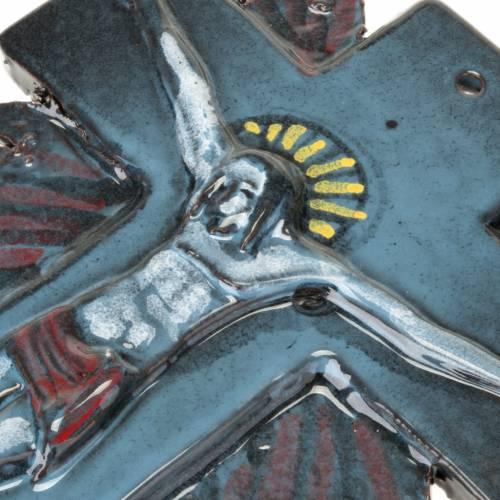 Mural ceramic crucifix (23 cm) s7