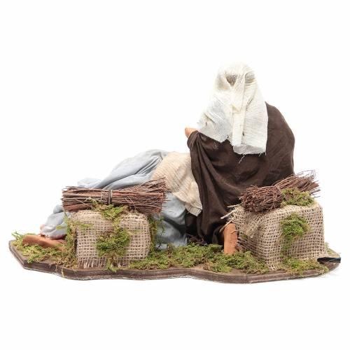 Nativité couchée 24 cm mouvement crèche napolitaine s4