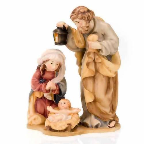 Nativité en bois peint à la main sur base s4