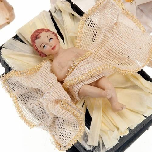 Nativité en résine et tissu, 25 cm, bronze s2