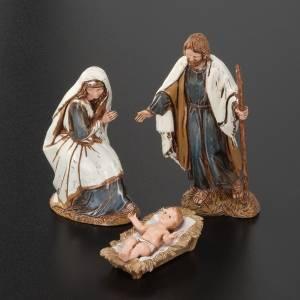 Nativité: Nativité Moranduzzo avec ange âne et boeuf 10 cm