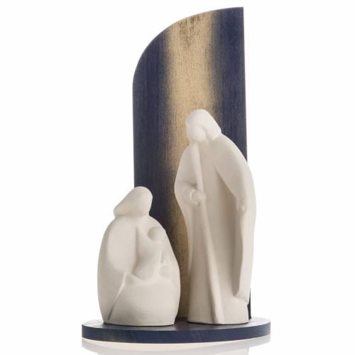 Nativité noel argile réfractaire bois doré s1