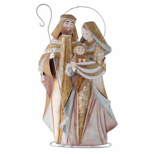 Nativité stylisée crèche métal s1