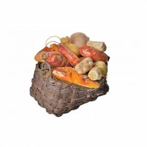 Nativity accessory, cold meat basket in wax, 10x7x8cm s2