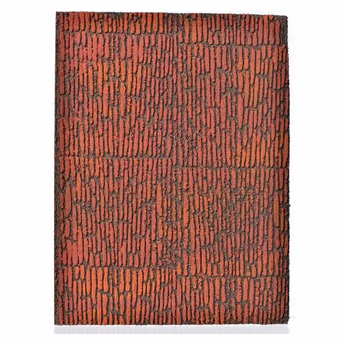 Nativity accessory, cork panel, Roman wall 36x23x1cm s1