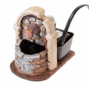 Nativity accessory, fountain in resin, 9x7x10 cm s1