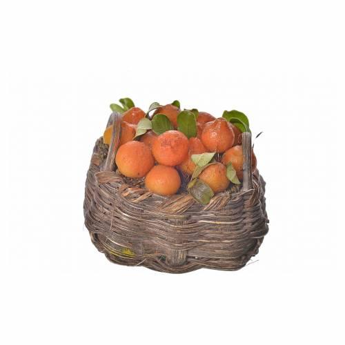 Nativity accessory, orange basket in wax, 4.5x5.5x6cm s3