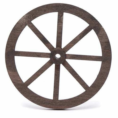 Nativity accessory, wooden wheel, diam. 10cm s2