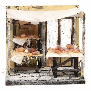 Nativity baker stall in wax, 18x20x14cm s1