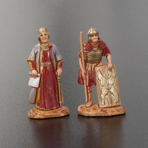 Nativity figurine, King Herod with Roman soldiers, 4 pieces 3.5cm s3