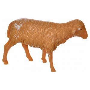 Nativity figurine, sheep in PVC 6 cm s1