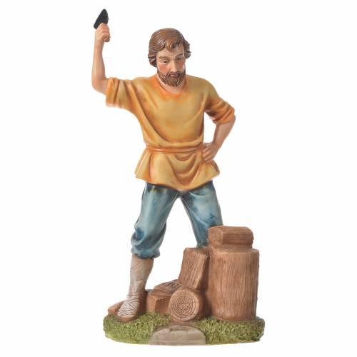 Nativity figurine, wood chopper, 30cm resin s4