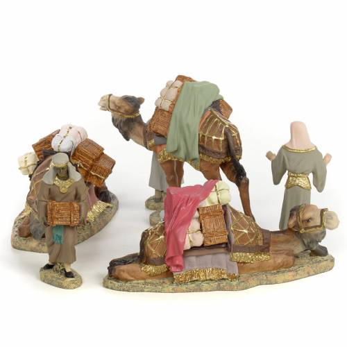 Nativity figurines, three Wise Kings on camel, 12cm (fine decora s2