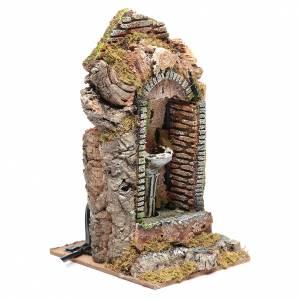 Nativity fountain in niche 24x11x11cm s3