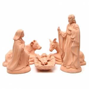 Terracotta Nativity Scene figurines from Deruta: Nativity in Terracotta 40cm - 5 pcs