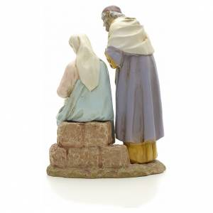 Nativity on base, painted resin 16 cm STOCK s3