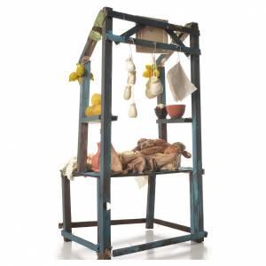Nativity ricotta cheese stall, 41x25x15cm s3