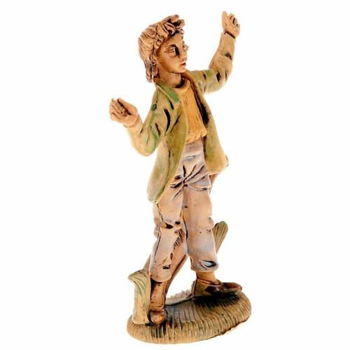 Nativity scene accessories, amazed shepherd figurine 8cm s2