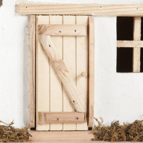Nativity scene accessory, hut, natural wood, 60x30x30 cm s6
