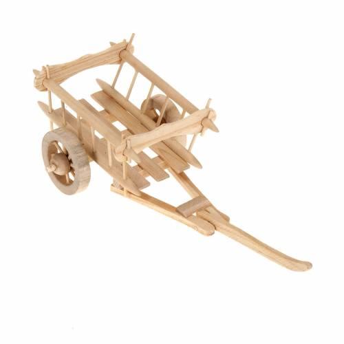 Nativity scene accessory, wooden cart 8x7 cm s1