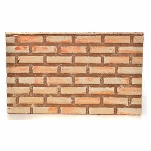 Nativity scene backdrop, cork panel brick wall effect 33x20x1cm s1