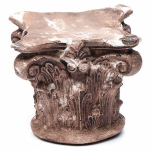 Home accessories miniatures: Nativity scene Corinthian capital in resin 10x10x5 cm