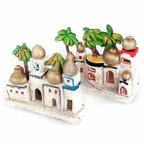 Nativity scene decor, Arabic-style houses s1