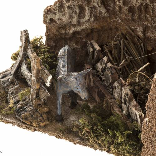 Nativity scene figurines, donkey in the pen s2