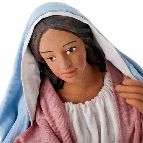 Nativity scene set Joseph and expecting Mary on donkey 30 cm s4