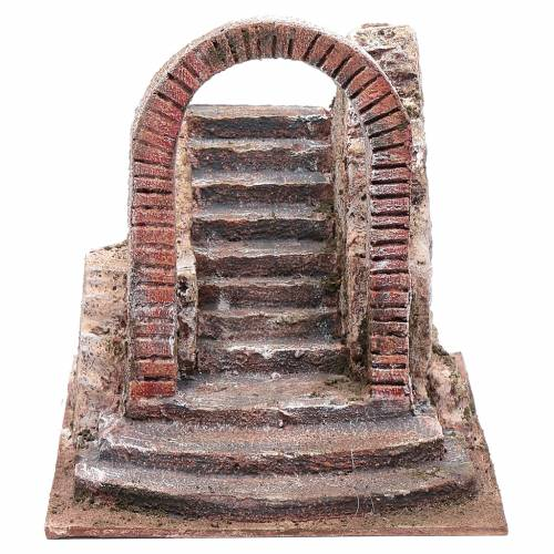 Nativity scene stairway with arch  20x20x25  cm s1